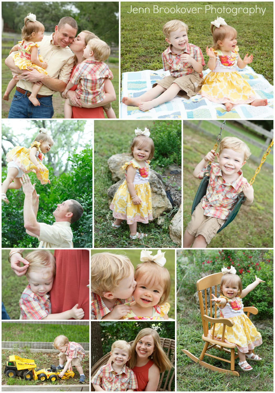 Family portraits in your backyard are fun for the kids and less stressful for you!