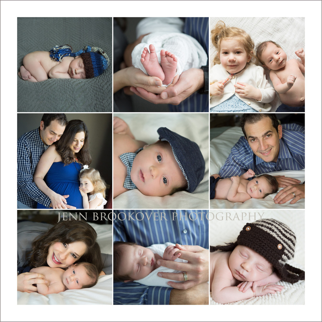 a collage of newborn and maternity images