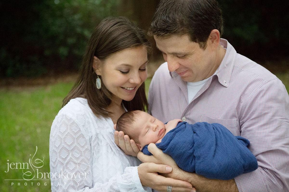 newborn boy with parents