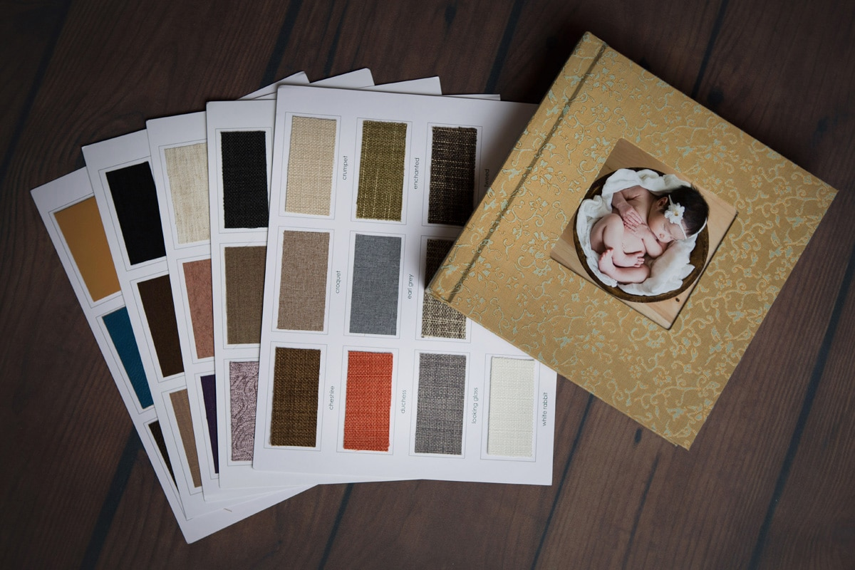 Folio box covers can be created in the same custom fabrics that we offer for our albums
