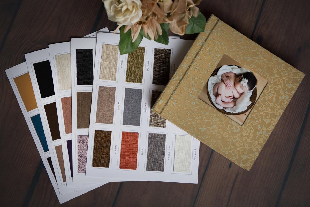 album and cover options by Jenn Brookover Newborn Photographer San Antonio