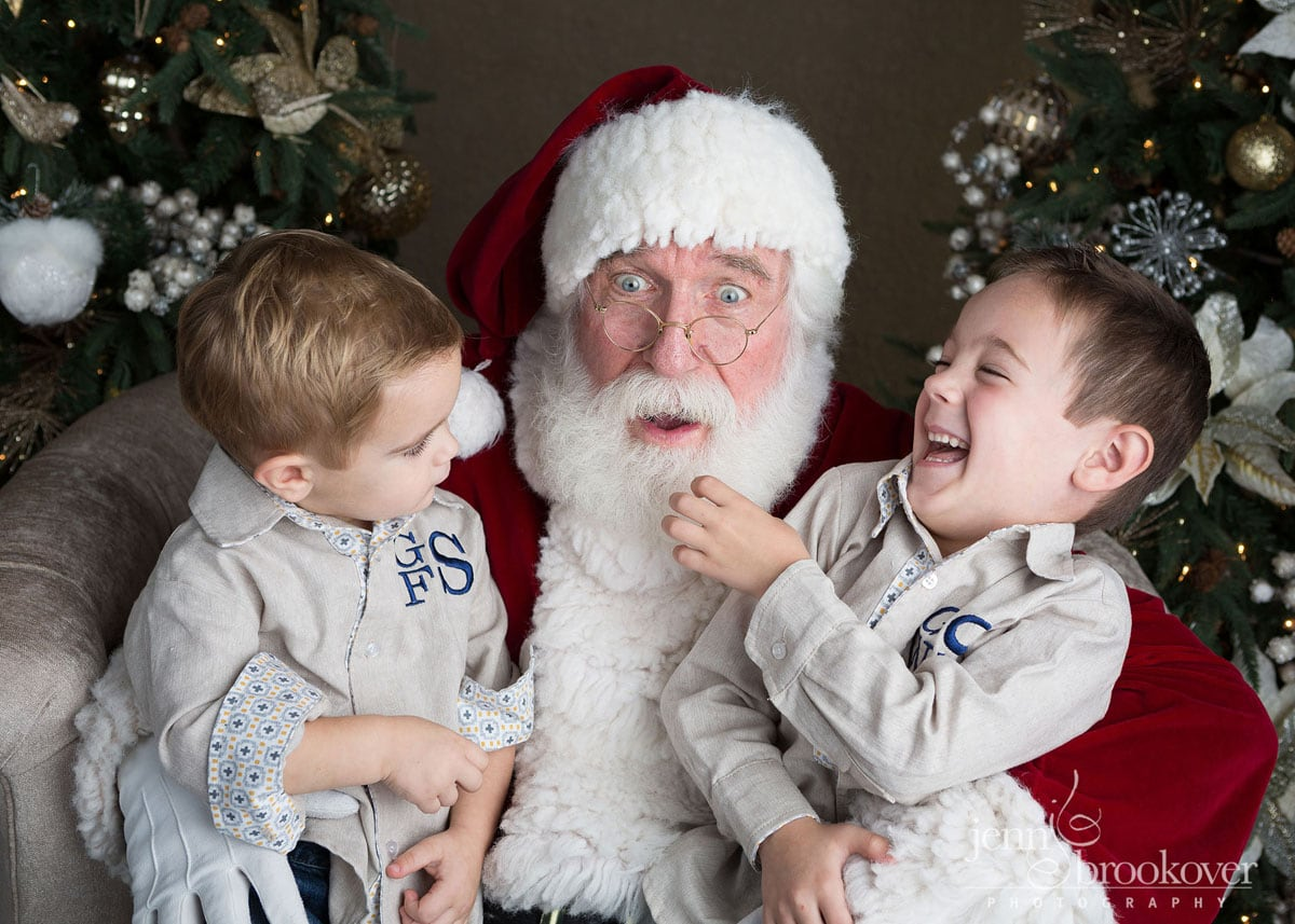 Santa session in San Antonio, Texas by Jenn Brookover at Nursery Couture