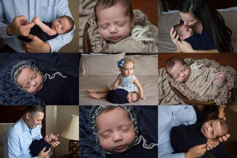 newborn boy session at home in San Antonio, Texas