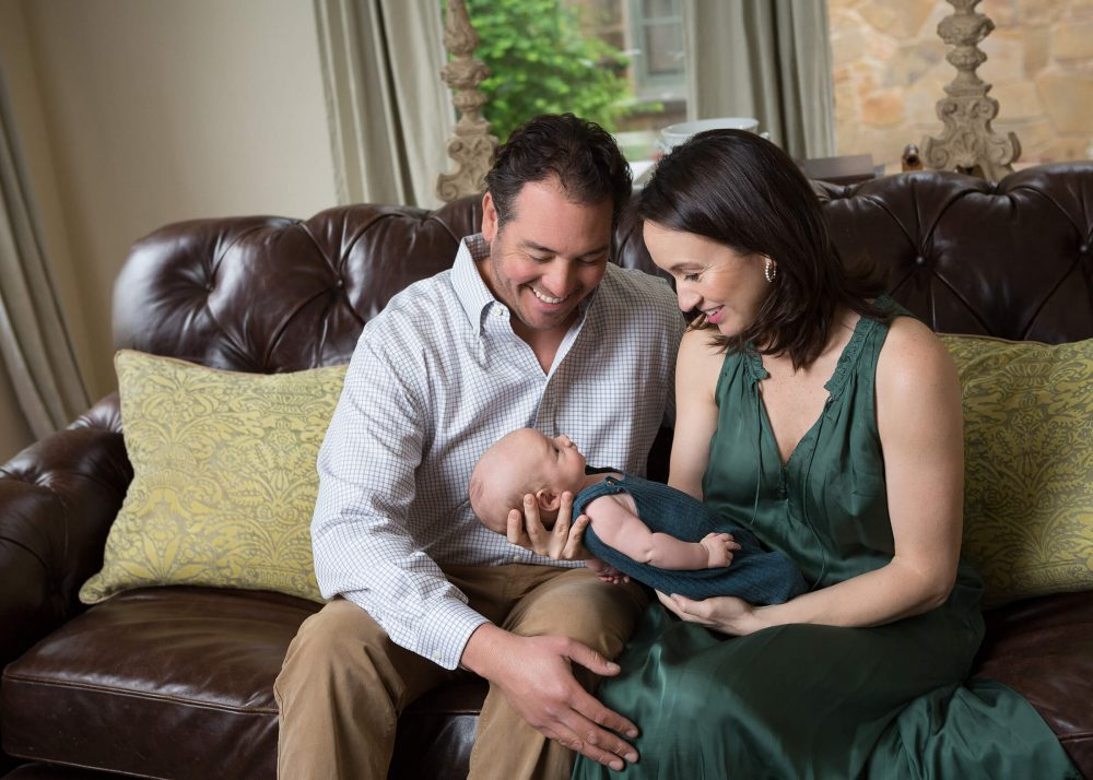 lifestyle newborn session San Antonio family