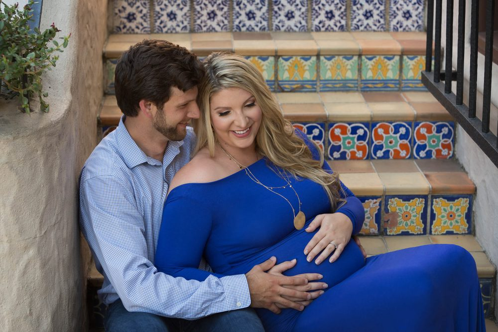 maternity dress worn by a beautiful mom in San Antonio at the McNay
