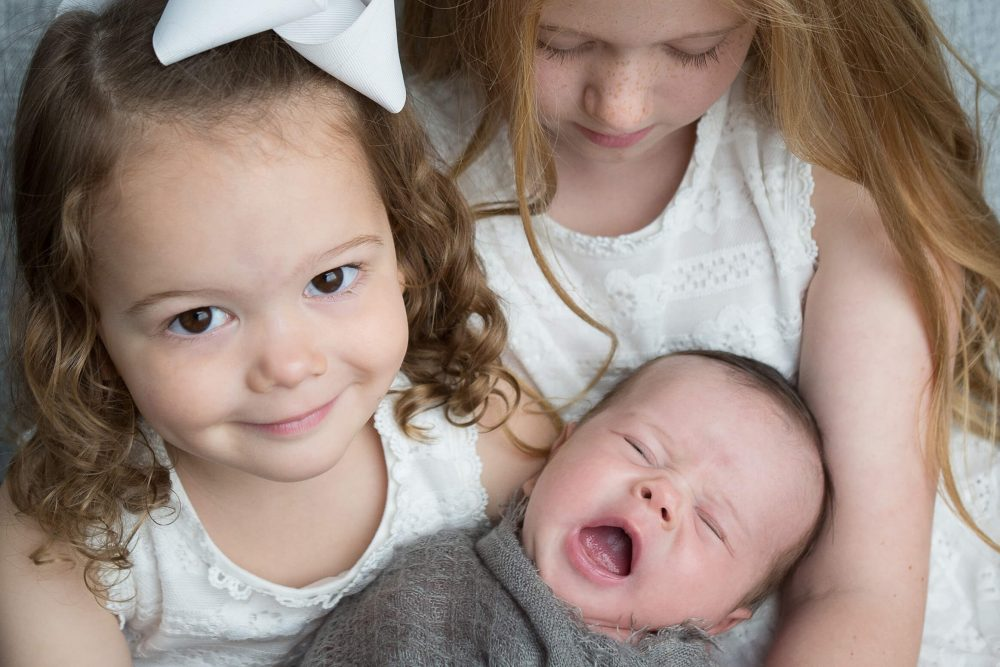 newborn photography San Antonio big sisters with brother